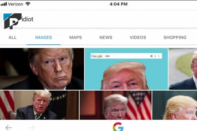 Google Shows Donald Trump's Images For 'Idiot'