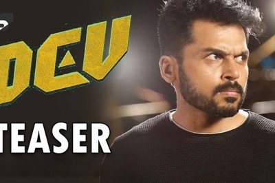 What is the opinion of Karthi's upcoming Movie Dev Teaser ?